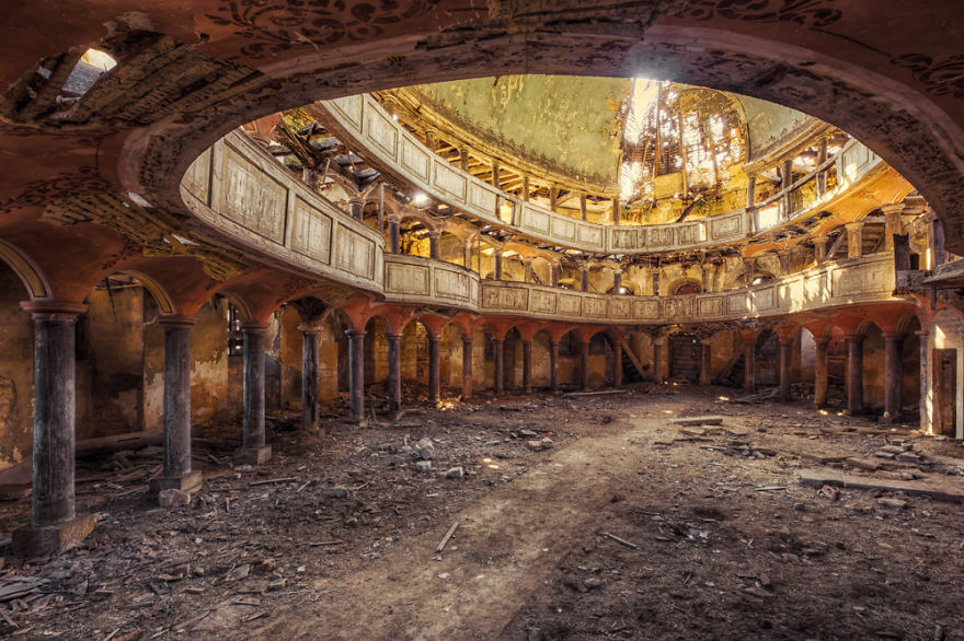 abandoned decayed chapel