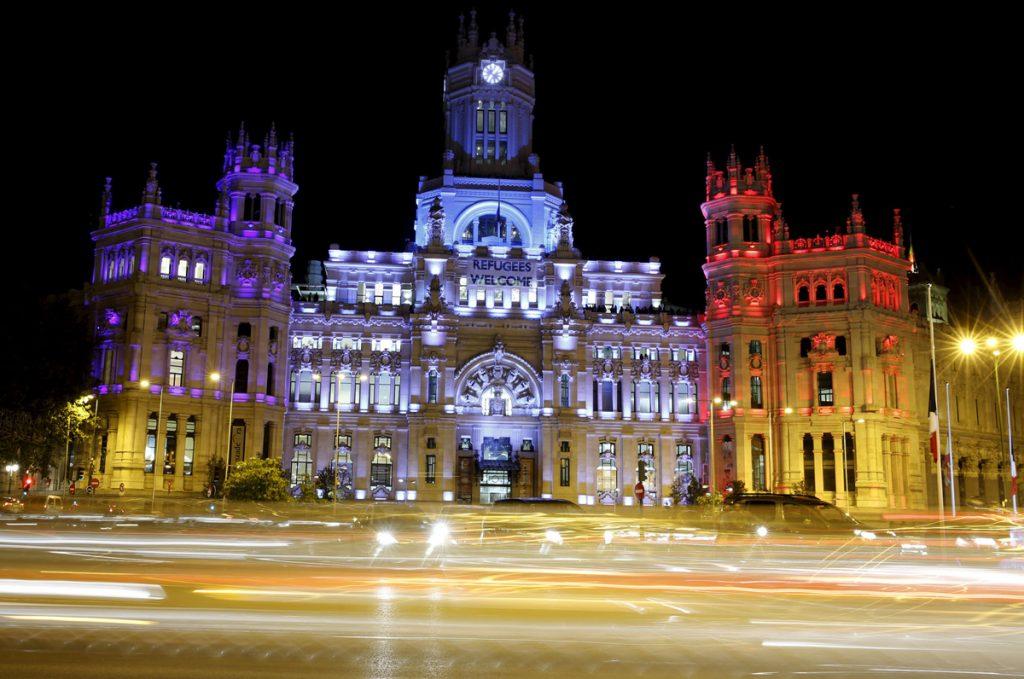 Сградата на градския съвет в Мадрид