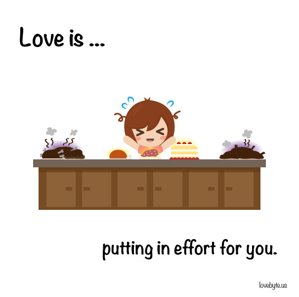 Любовта е... да се старая за теб