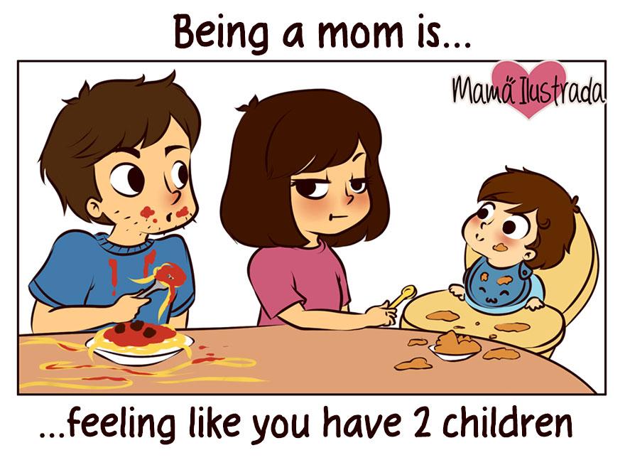 Да бъдеш майка е... да се чувстваш така, сякаш имаш 2 деца