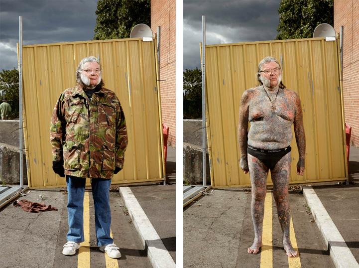 """Дейв (66): """"Започнах да се таутирам през 1963 година. Бях на 14. Не мисля, че някога изобщо ще спра""""."""