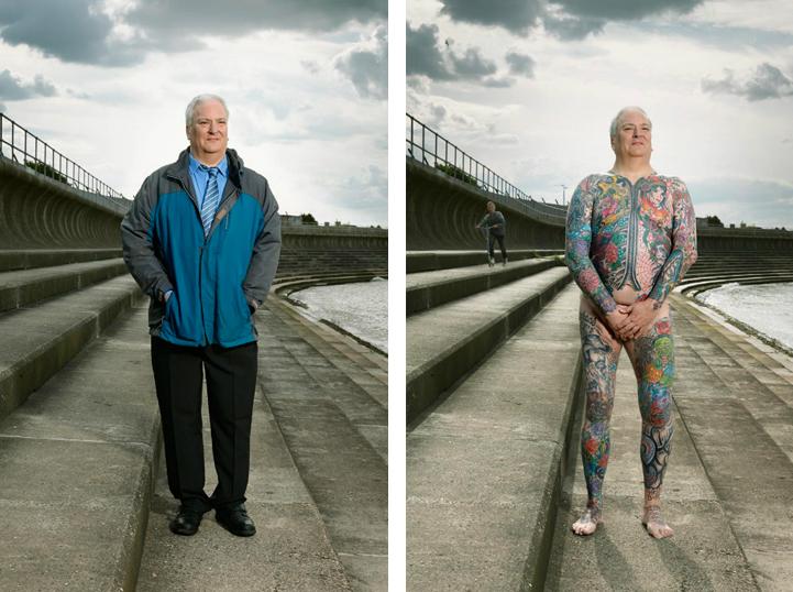"""Греъм (58): """"Бях на 51, когато започнах да се татуирам. Баща ми вече бе мъртъв, а майка ми не каза нищо, защото страдаше от ранна фаза на деменция""""."""