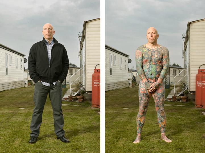 """Саймън (45): """"Бях на 14, когато се татуирах за първи път. Майка ми каза, че при още една татуировка ще ме изгони от вкъщи""""."""