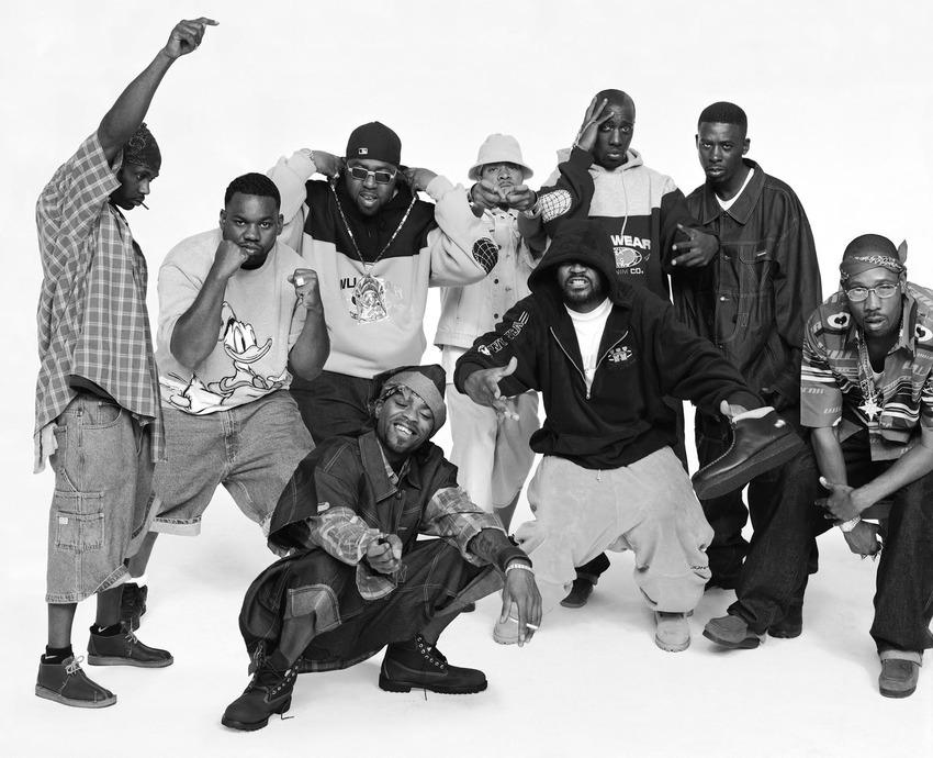 Груповият портрет на легендите от Wu-Tang Clan, направен от французина Жером Албертини през 2000 година.