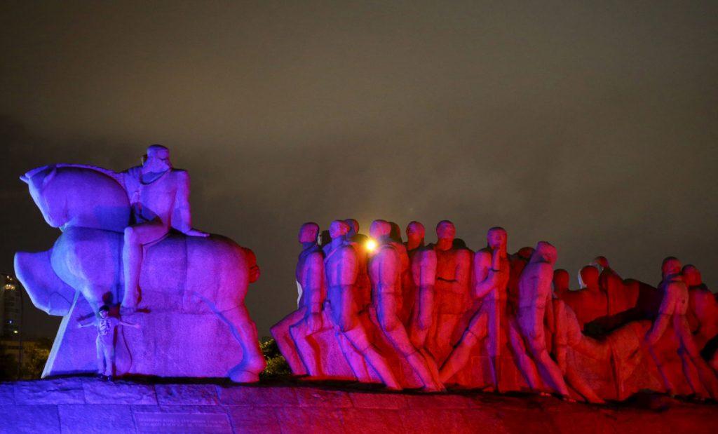 """Монументът """"Бандейрас"""" в бразилския мегаполис Сао Пауло"""