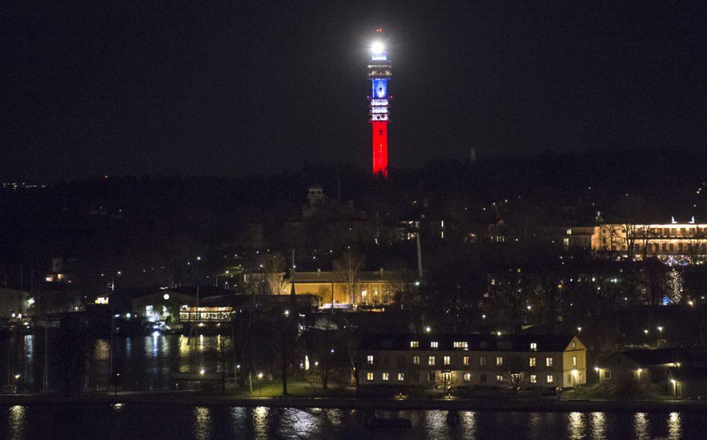 Сигналната ТВ кула в шведската столица Стокхолм