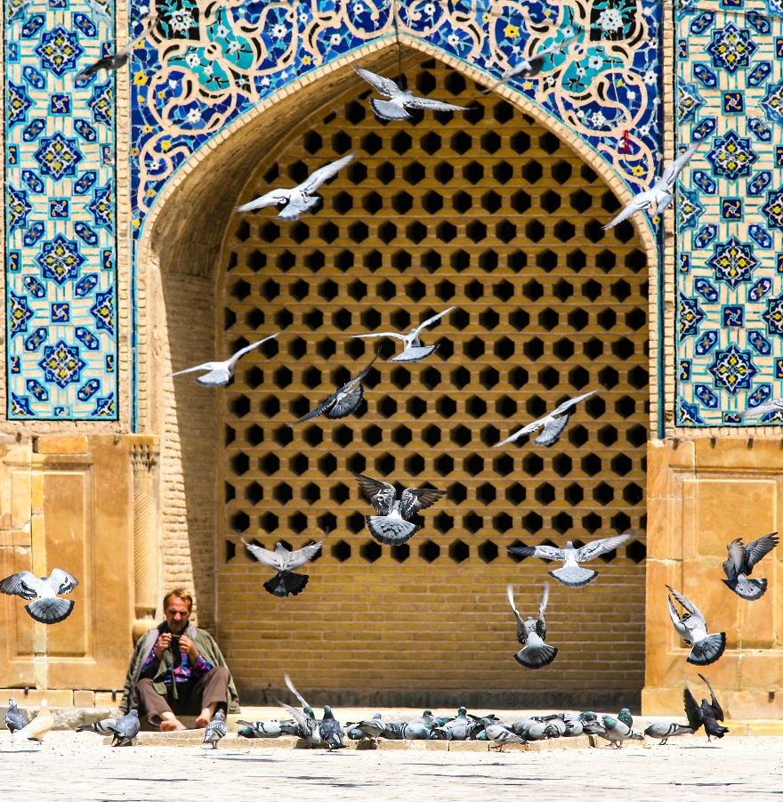Мъжът с гълъбите, Кашан