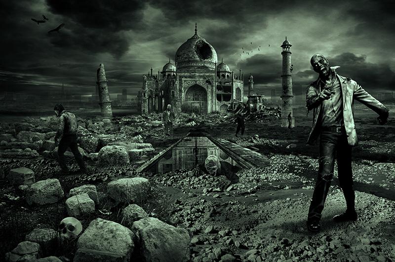 """Дворецът """"Тадж Махал"""" в Индия"""