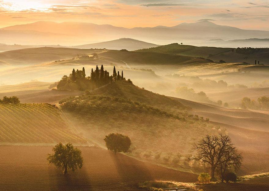 Златен изгрев в Тоскана