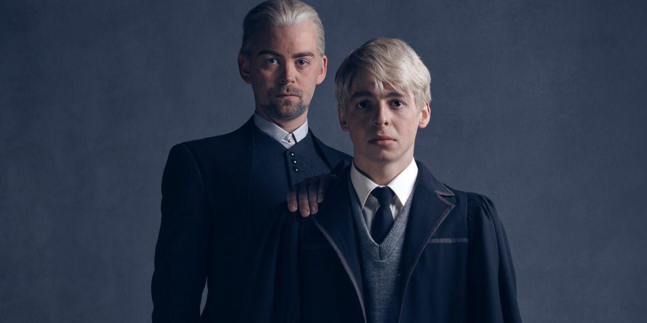 Актьорите, изпълняващи театралните роли на Драко и Скорпиус